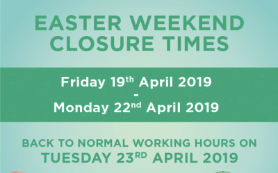 Easter Bank Holiday – Opening Times