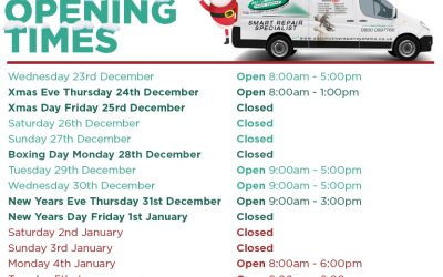 Holiday Season Opening Times 2020